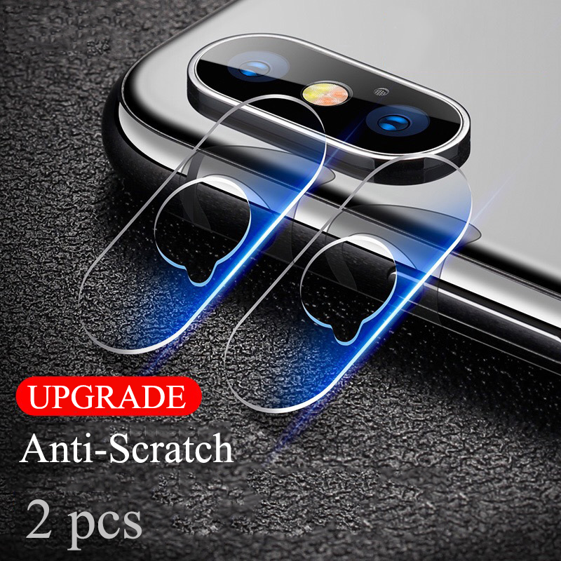 Protective Tempered Glass Protector Full Cover Protection For apple iphone X 8 7 plus mobile phone Rear Camera Lens Screen Film