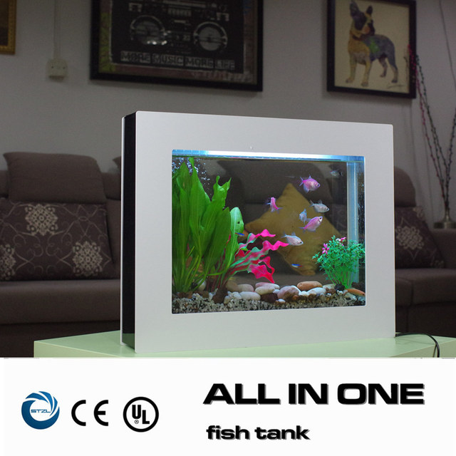 home decor new fashion smart aquarium fish tank for live tropical fish white frame