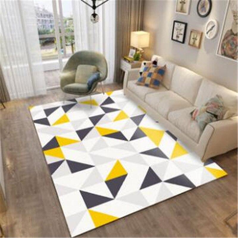 WINLIFE tapis modernes tapis simples et géométriques tapis en microfibre et tapis pour salon et décoration de la maison
