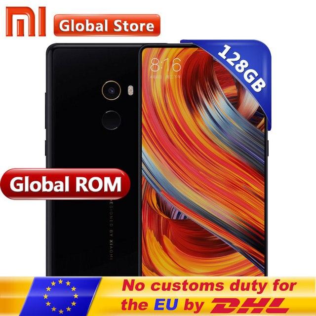 """Xiao Mi Mix 2 MIX2 6 ГБ 128 ГБ смартфон мобильный телефон Snapdragon 835 Octa core 5.99 """"Full экран Дисплей cera Mi CS Глобальный Встроенная память"""