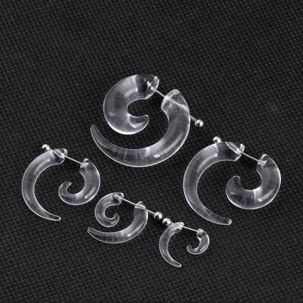 1 cặp nam nữ thời trang new fake xoắn ốc tai thon ốc tăng thể ear màu đen 3/4/5/6/8 mét đồ trang sức cơ thể ear plug pircing