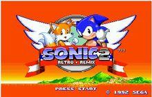 Sonic 2 Rétro Remix 16 bits MD Carte de Jeu Pour Sega Mega Drive Pour Sega Genesis