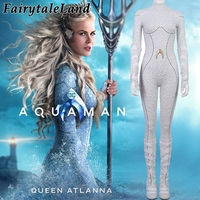 Aquaman Atlanna Cosplay Costume Carnival Halloween Costume for adult Cosplay Queen Atlanna Jumpsuit Fancy Costume Custom Made