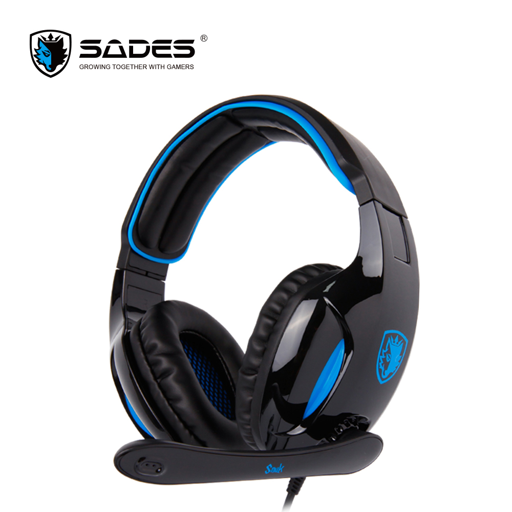 SADES SNUK Virtual 7.1 Surround Sound Headphone e-Sports Headphones Professional Gaming Headset for Gamer sades locust plus virtual 7 1 surround sound headphones high quality headset headphone for gamer with rgb light