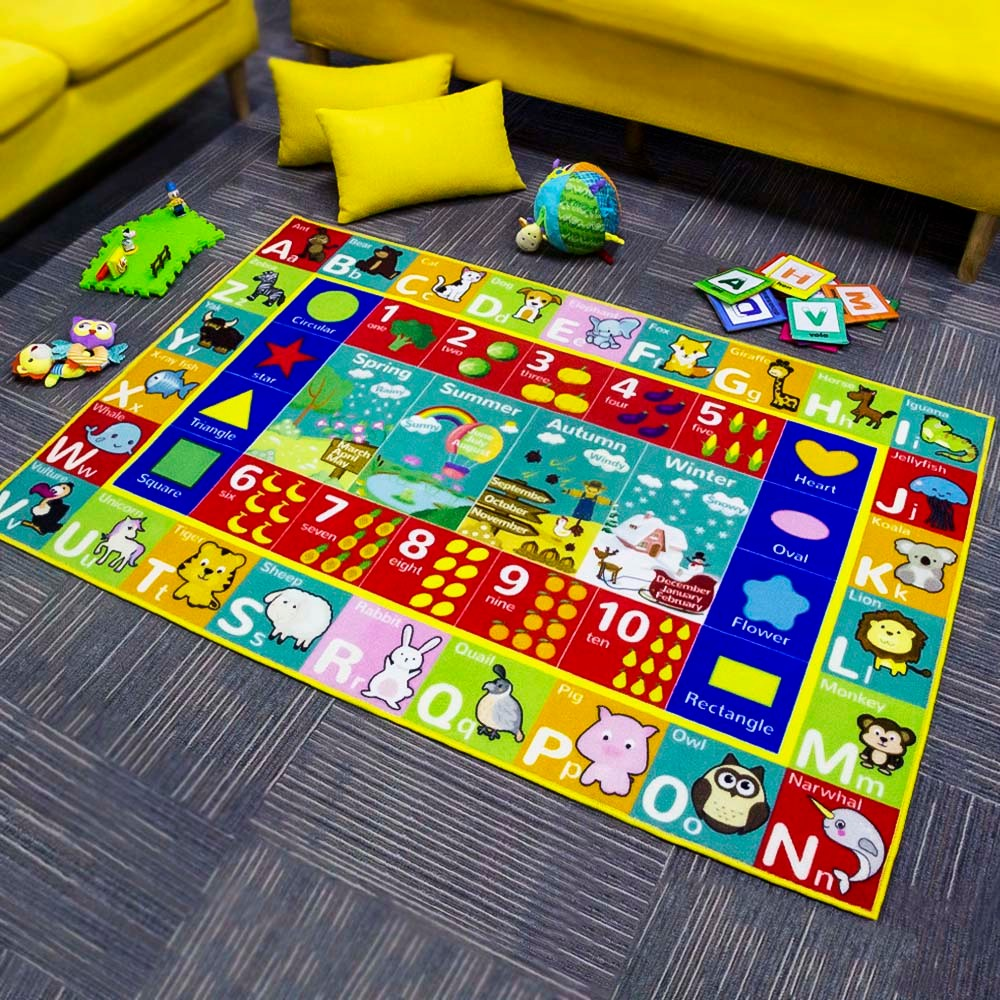 Baby Kids ABC Alphabet Educational Learning Area Rug Carpet