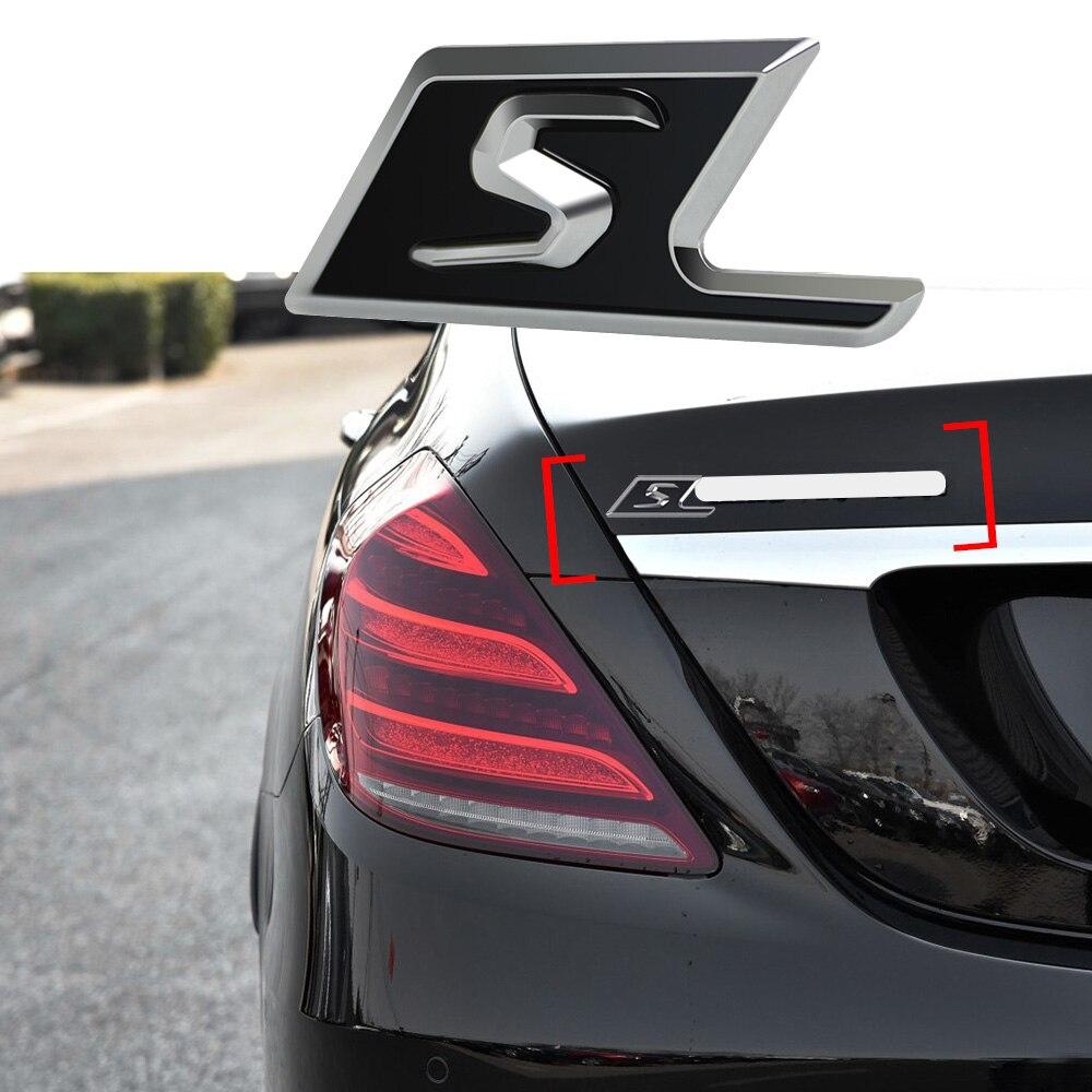 S Rozeti Araba Gövde Logosu Dekor Sticker Mercedes Benz AMG CLA CLK GLA GLC GLE GT S600 S63 S212 s213 S320 G63 G500 ML320 ML350