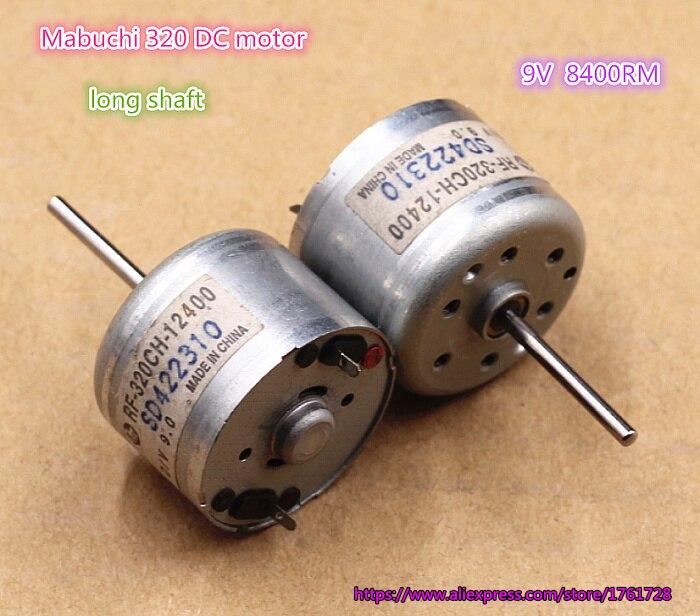 MABUCHI RF-320CH-12400 DC 6V-12V 9V Micro Spindle Motor Long Shaft DIY Toy Model