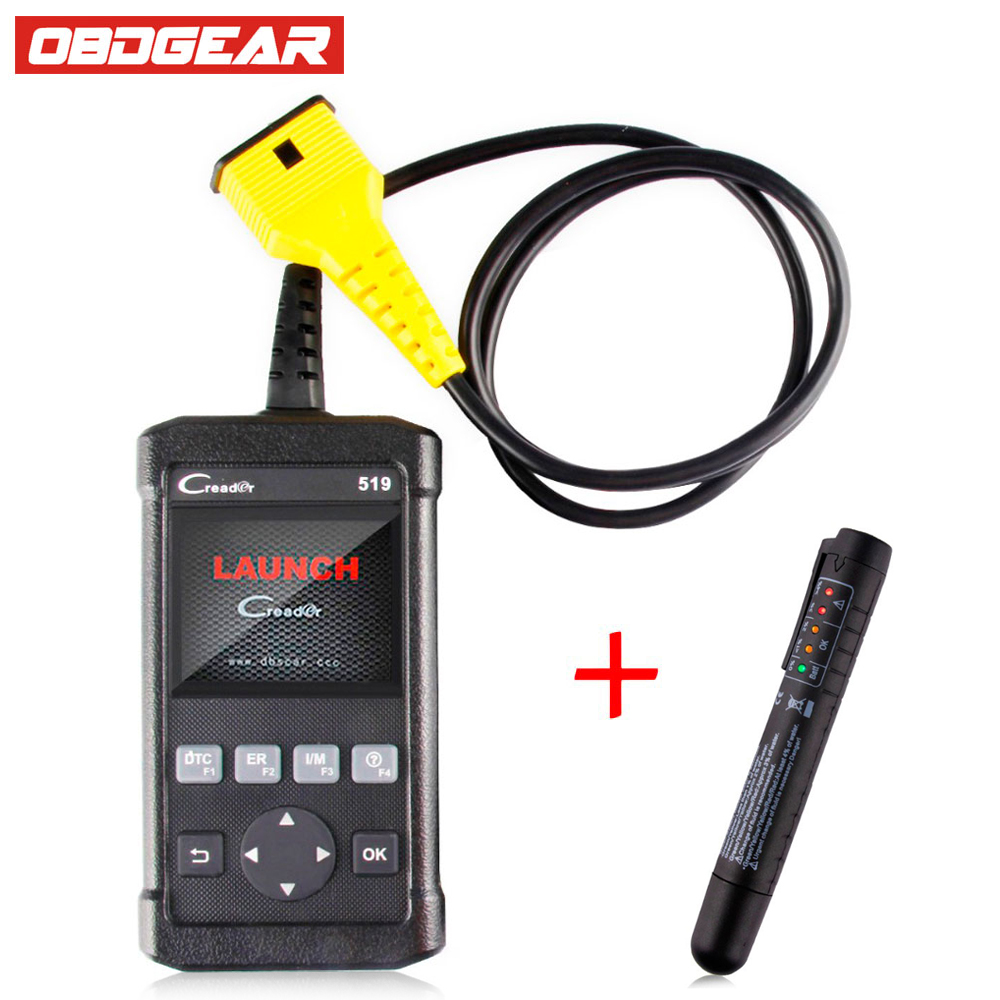 LAUNCH Creader 519 Code Reader OBD2 Automotive Scanner Creader 519 Supports All OBDII/EOBD Protocols X431 Update Online For Car 100% original launch creader 519 odb obd2 scanner for obd2 can eobd jobd cars cr519 diagnostic tool free gift brake fluid tester