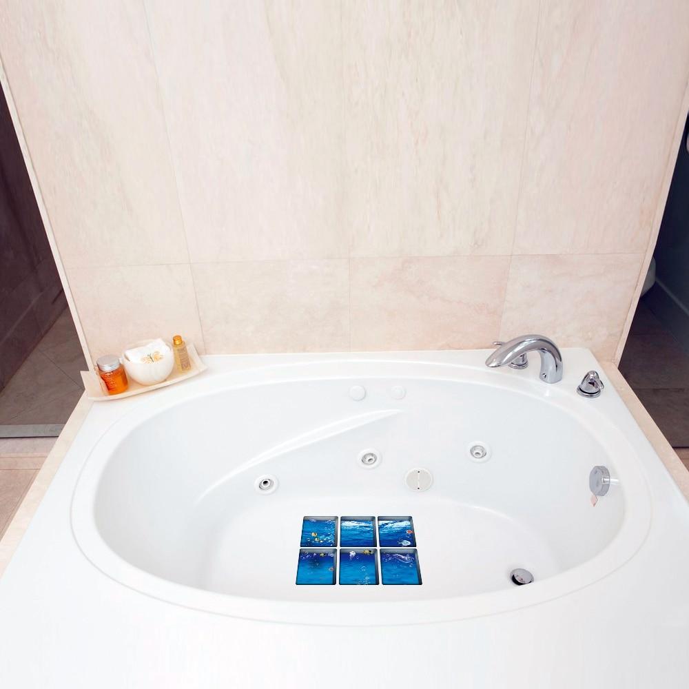 6 Stucke 3d Badewanne Aufkleber Rutschfeste Wasserdichte