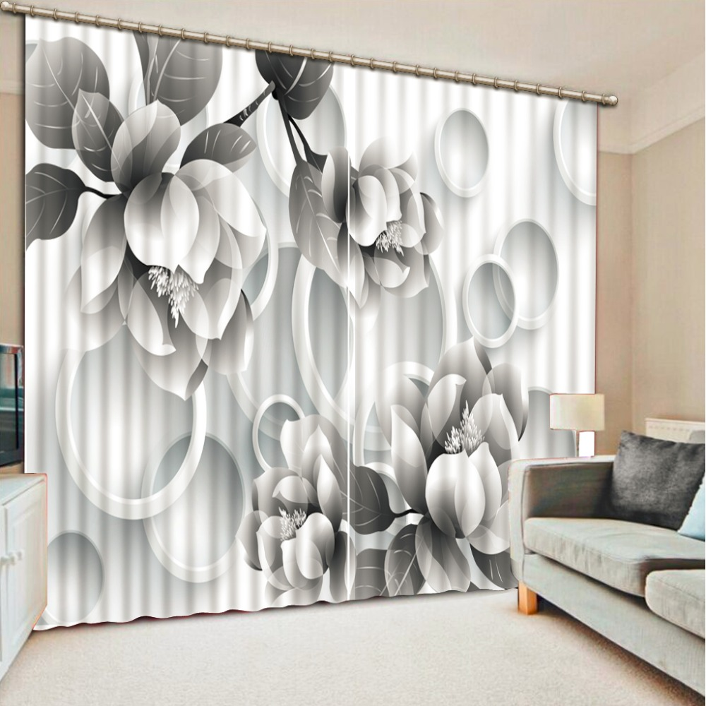 customize 3d curtains for living room simple flowers soundproof curtains photo 3d blackout curtains for the