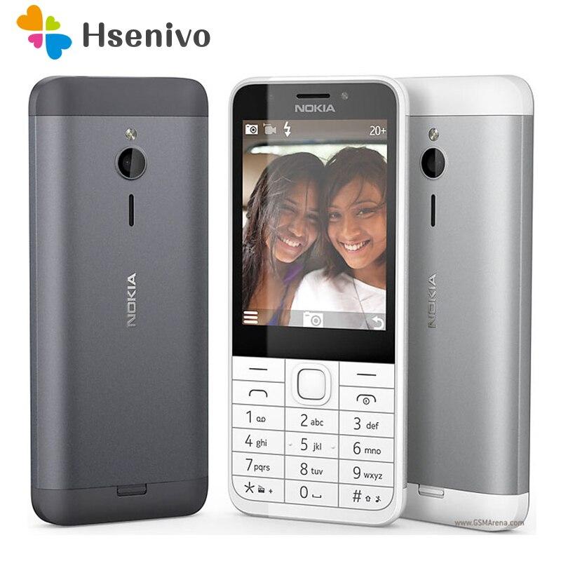 230 Original Nokia 230 débloqué GSM 2.8 pouces double SIM et cartes à carte unique 2MP clavier QWERTY anglais téléphone Mobile remis à neuf