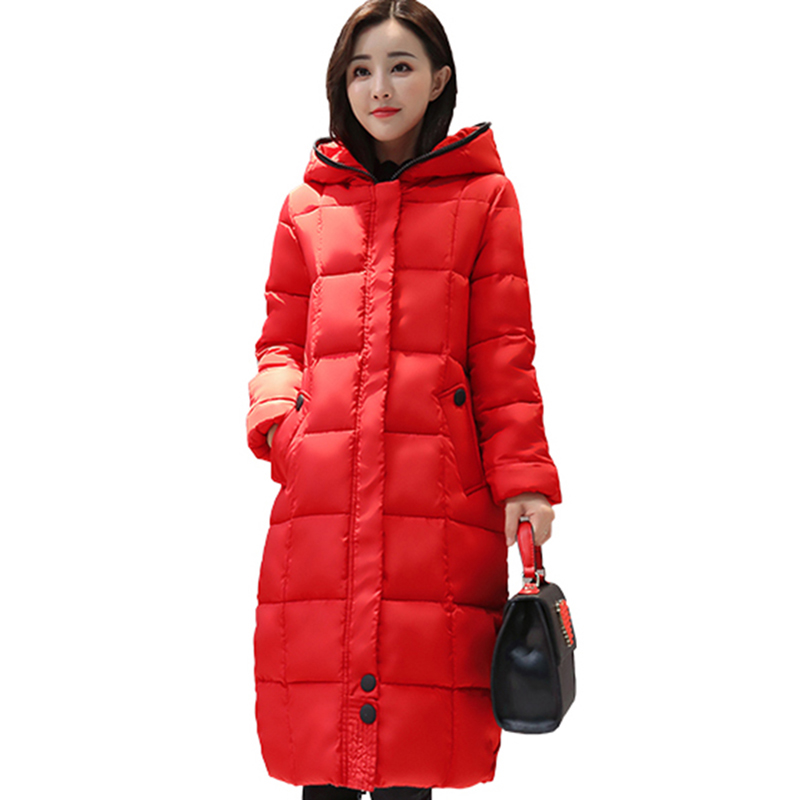 Women's Winter Long Outerwear cotton Coats Long-Sleeved Warm plus size lovely hooded Coat Warm Long thicker snow Jacket QH0644 long long