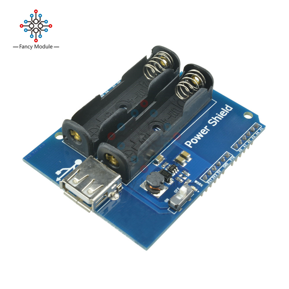 Power Shield Power Supply Board 5V/350mA for Arduino AAA*2 Battery GM