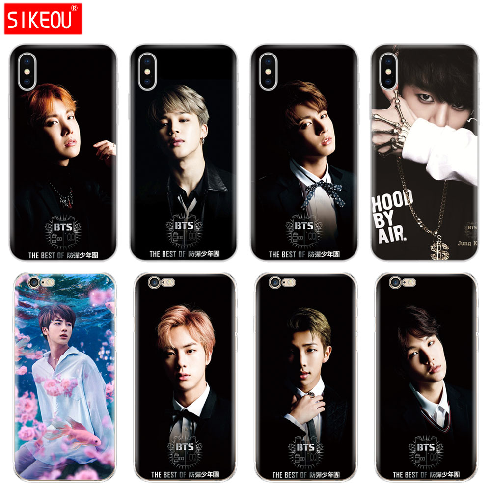 Cellphones & Telecommunications Persevering Silicone Cover Phone Case For Iphone 6 X 8 7 6s 5 5s Se Plus 10 Case Bts Rap Jin Suga J-hope Jimin Jung Kook Meticulous Dyeing Processes
