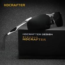 HDCRAFTER Genuine Aluminum Magnesium Sport Sunglasses Men Polarized UV400 Rimless Glasses Driving Goggle Sunglass Oculos