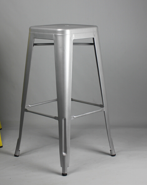 Free Shipping  Silver 75cm Powder Coated Stool