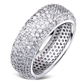 Time to sparkle, Cristal ring for women AAA Synthetic zirconia Ladies deluxe ring bijoux Marriage bague Free shipping