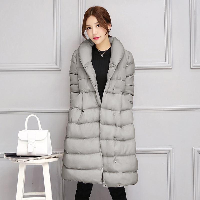 2018 wanita Jaket Baru Menengah-panjang Turun Kapas Jaket Plus Ukuran - Pakaian Wanita - Foto 6