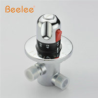 Free Shipping BL0211D G1 2 Brass Thermostatic Valve Water Temperature Thermostatic Mixer Valve Thermostatic Shower Valve