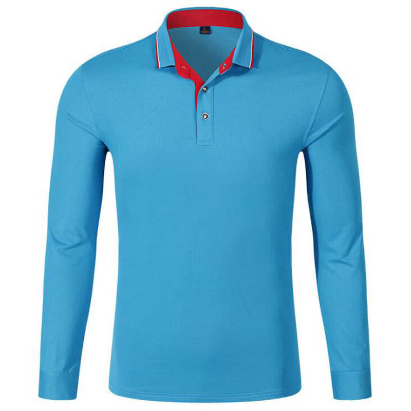 6ed15c4a5 Men Long Sleeve Polo Shirts Mens Fashion Pearl Breathable Cotton Golfsports Polo  Shirt Men s Casual Turn