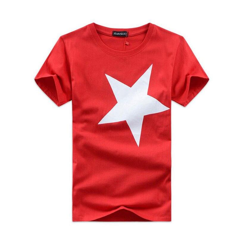 Men's T-Shirts Casual Cotton Tee Shirt Man O-Collar Star Tshirts Male Plus Size TShirt 5XL Summer Men Short Sleeve T-shirt