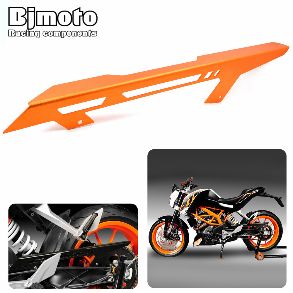 Bjmoto For KTM  DUKE 125 200 DUKE 390 2013-2017 Rear Back Drive Chain Guard Mud Cover Panel Shield Fairing Cowl Protector rear passenger seat cover pillion cover for ktm duke 125 200 390 all years