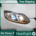AKD Car Styling for Focus Headlights 2012-2014 Focus 3 LED Headlight DRL Bi Xenon Lens High Low Beam Parking Fog Lamp