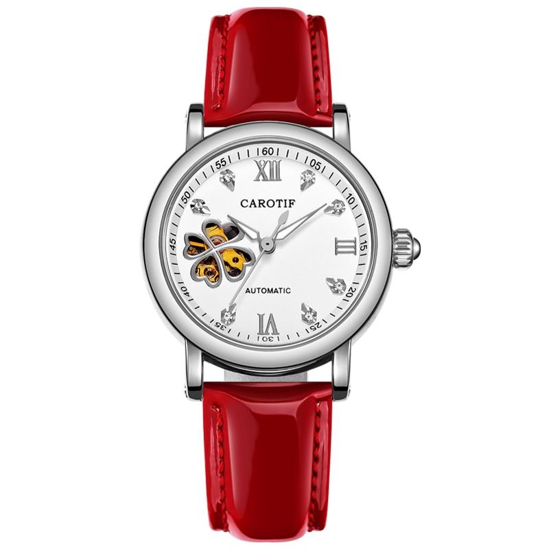 Carotif Fashion automatyczne zegarki mechaniczne damskie - Zegarki damskie - Zdjęcie 5