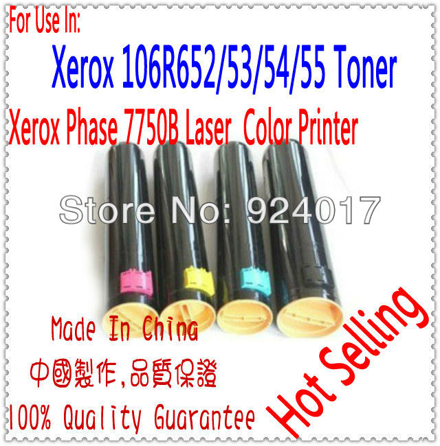 ФОТО Printer Cartridge For Xerox 7750 Toner.Use For Xerox 106R652/53/54/55 Toner,For Xerox Phase 7750B Printer.Refill Toner For Xerox