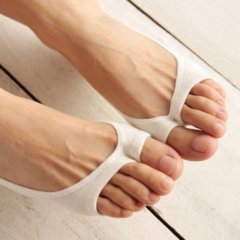 Women Cotton Peep Toe Shoes Socks Invisible Low Cut Sock