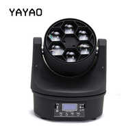 YaYao LED 6x15W Super Moving Head Beam Light Perfect Effect Stage Light For DJ Disco Party Clubs RGBW