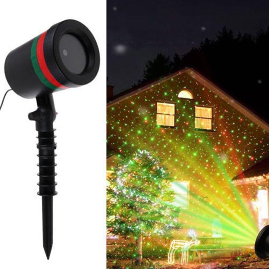Thrisdar Outdoor Green Red Star Laser Projection Lamp Christmas Star Motion Projector RG Shower Light Outdoor Laser Stage Light