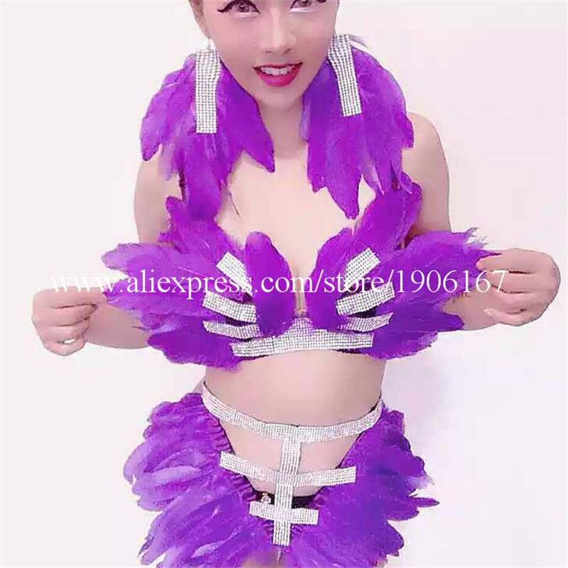 New Design Sexy Girl Dance Team Bikini Suit Women Bra Shorts Dress Clothes Show Stage Performance Costume