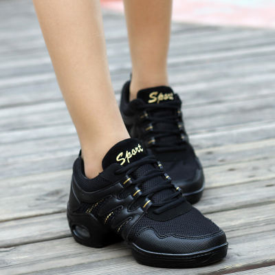 Square Dance Shoes GIRL sneakers women shoes mesh modern dance aerobics SHOES Teachers Jazz Shoes Women female soft bottom