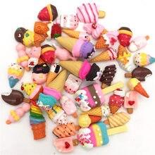 цена Free shipping! Resin Cream cakes,Cute little pastry,cherry, heart Resin Flatback Cabochon for phone decoration,Butter hands DIY  онлайн в 2017 году