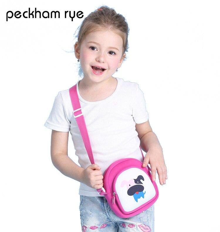 PECKHAMRYE 2017 children purse kids baby bags Mini Messenger Bag Cute Cartoon dog Small Coin Purses Handbags Kids Shoulder Bags