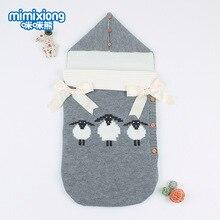 цена на 35x75 cm Boys Girls Cartoon Knitted Sleep Swaddle Baby Blanket Winter Autumn Swaddle Wrap Newborn Baby Blankets Accessories
