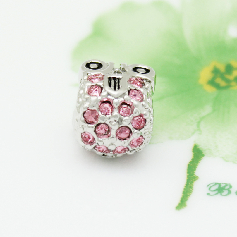 ad19f2e00cf85 US $0.1  Pink crystal baby stroller European style charm beads handmade DIY  jewelry amulet Fit Pandora Bracelet Necklace -in Beads from Jewelry & ...