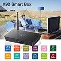 S912 X92 Amlogic Caja de la TV Inteligente Android 6.0 TV Box 2 GB/3 GB 16 GB Octa Core 2.4G/5.8G WiFi HDMI 2.0a y USB 2.0 AV LAN y pantalla Led