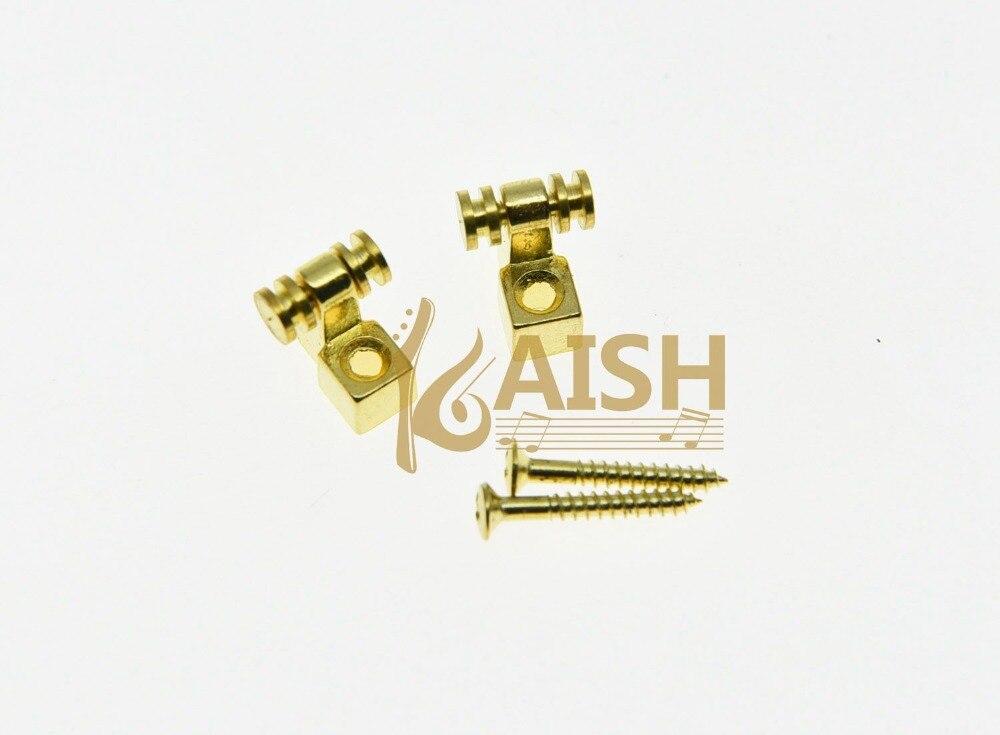 KAISH 2x Guitar String Retainer Guitar Roller String Trees Gold