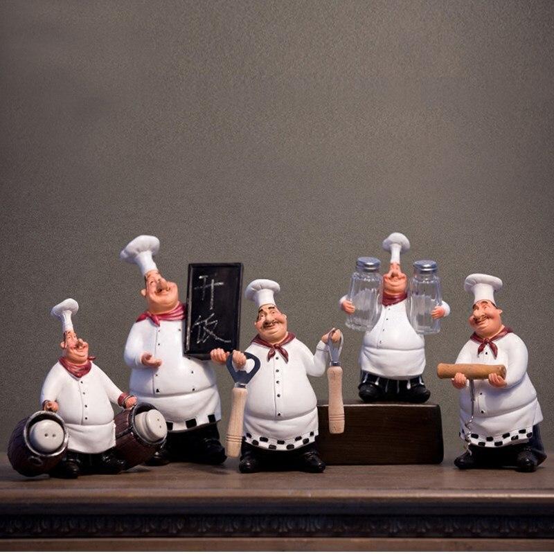 Frauen Und Kinder Beliebte Marke Retro Kochen Statue Küche Koch Funktion Skulptur Harz Kunst & Handwerk Restaurant Bar Cafe Wohnkultur Speichert Geschenke L3236 Geeignet FüR MäNner Haus & Garten