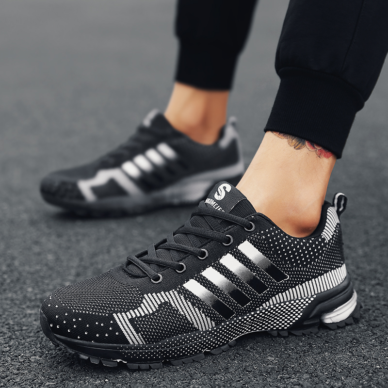 new style edb2f a112b US $7.91 45% OFF|New 2019 Hot Sales Fashion Light Breathable cheap Lace up  Men Shoes Human Race Casual Shoes For Male Black Red Plus Size 35 46-in ...