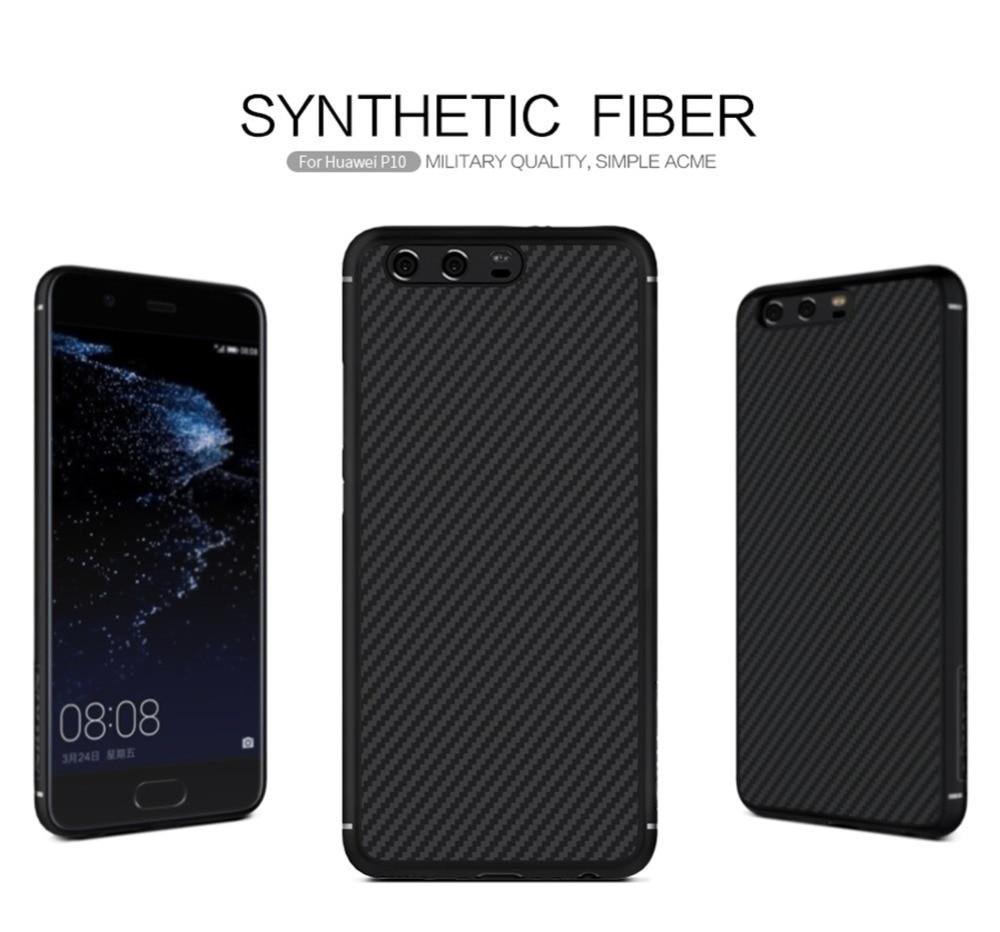 Original Nillkin synthetic fiber case for huawei p10 cover case 5 1 Hard Carbon Fiber PP