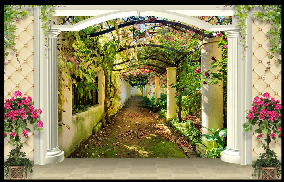 3d Wallpaper Custom Photo HD Stereoscopic Fantasy Garden Aisle Wall Paper Mural Painting Papel De Parede In Wallpapers From Home