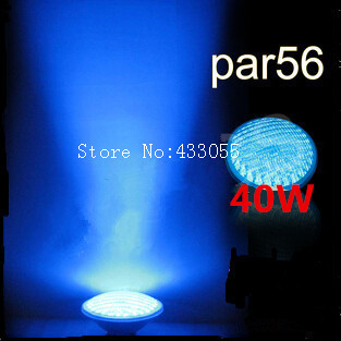 цена на Hot sale! led pond lights underwater 40W Blue PAR56 12v Swimming Pool Light led pool lights Underwater lights free shipping