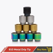Quartz Banger 810 Drip Tip Stainless Steel Wide Bore for TFV12 Prince Tank RDA RTA RDTA Atomizer Mouthpiece Vape Metal Drip Tip(China)
