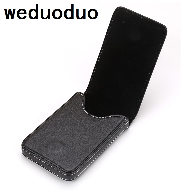 Weduoduo New Pu Leather Men's Business Card Holder Portable ID Card case for women metal Credit card holder new brand stainless steel men s business card holder portable id card case for women metal credit card holder
