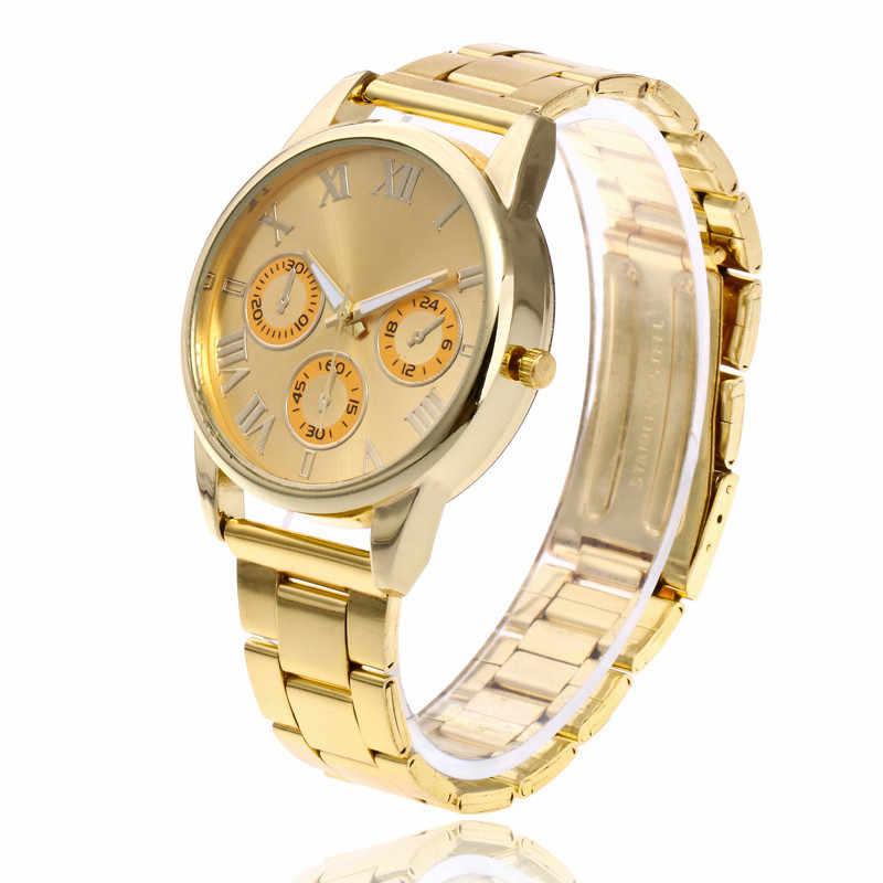Fashion Women Watch Three Eyes Stainless Steel Analog Quartz Wristwatch Bracelet Top Band Luxury Women Watches reloj mujer