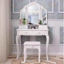 European dressing table bedroom garden small apartment simple dressing table modern princess mini economic makeup table modern dressing table luxury princess ins wind bedroom dressing table black stainless steel cosmetic table
