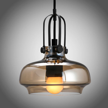 pendant lamps personality single head shadow glass lampshade balcony Bar Restaurant Bar combination pendant light GY35